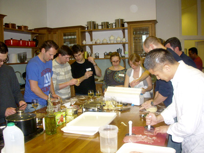 Cookery team building activity